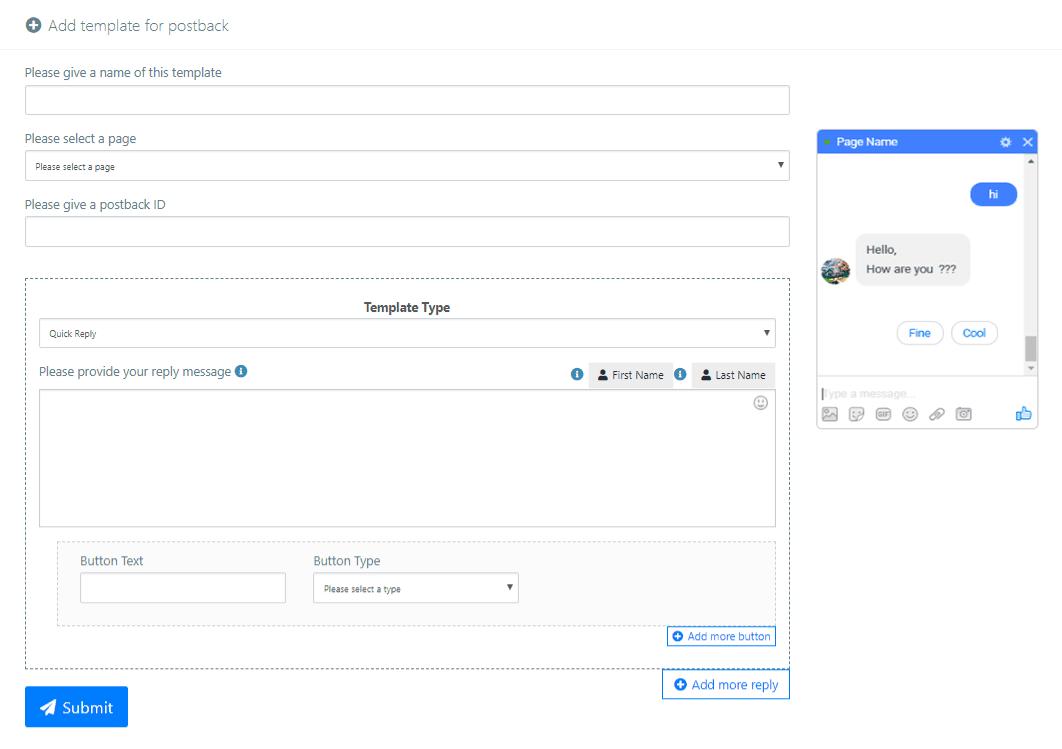 Robot Chat Messenger Bot Tutorial - Messenger Bot | Post-back Manager 1