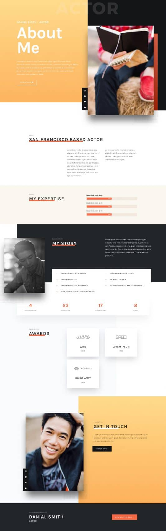 Actor CV Web Design 1