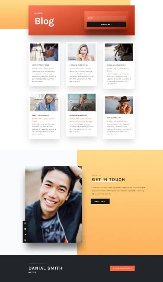 Actor CV Web Design 2