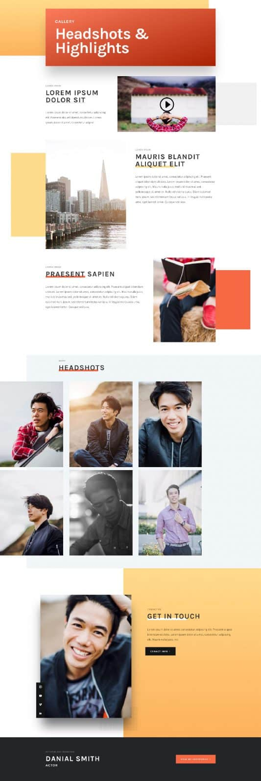 Actor CV Gallery Page Style 1