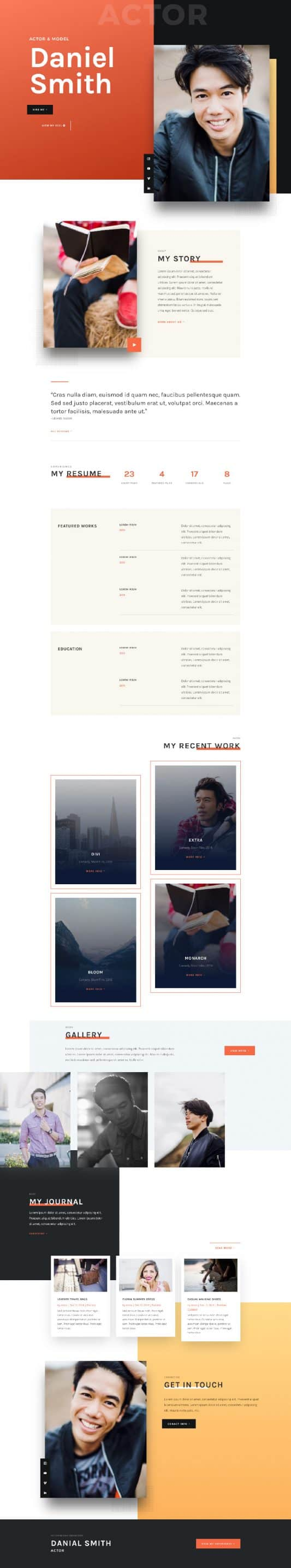 Actor CV Web Design 6
