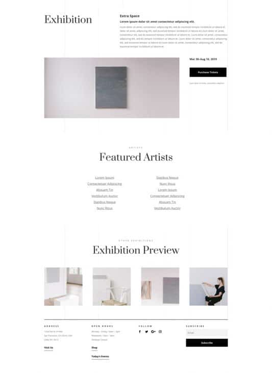 Art Gallery Web Design 3