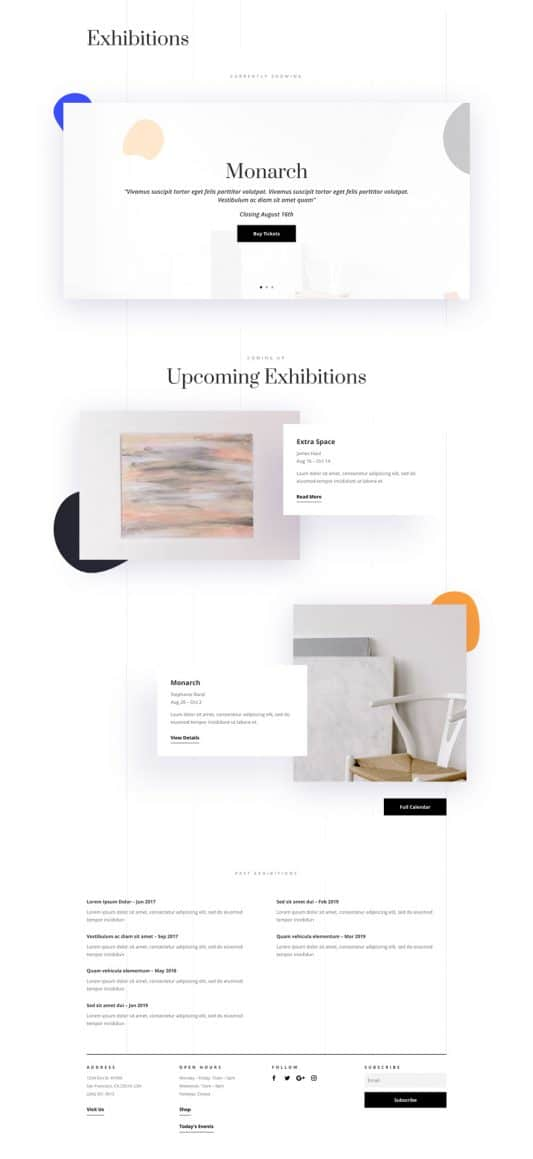 Art Gallery Web Design 4