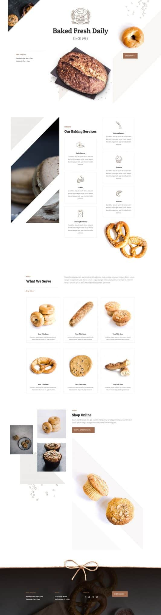 Bakery Web Design 2
