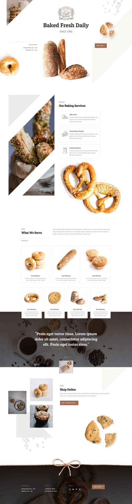 Bakery Web Design 3