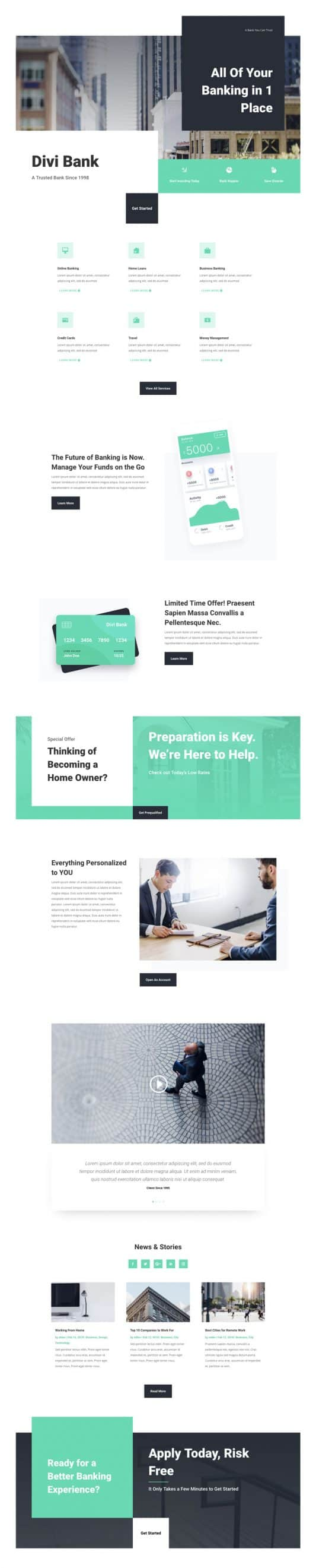 Bank Landing Page Style 1