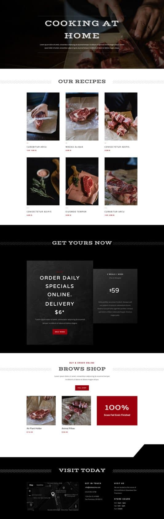 Butcher Recipes Page Style 1
