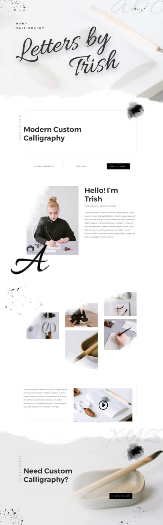 Calligrapher Web Design 3