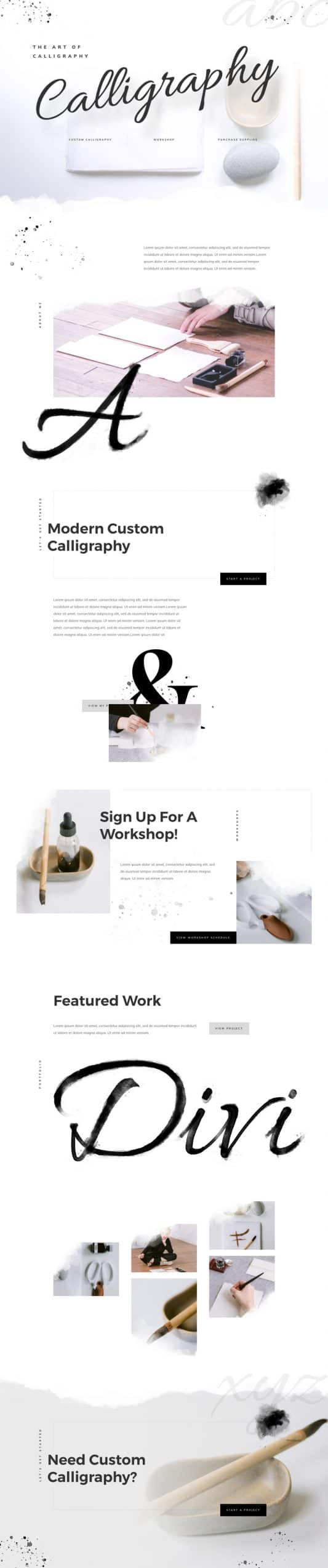 Calligrapher Web Design 4
