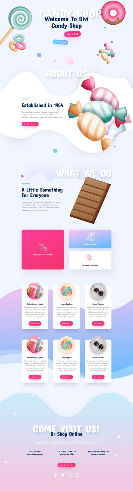 Candy Shop Web Design 2