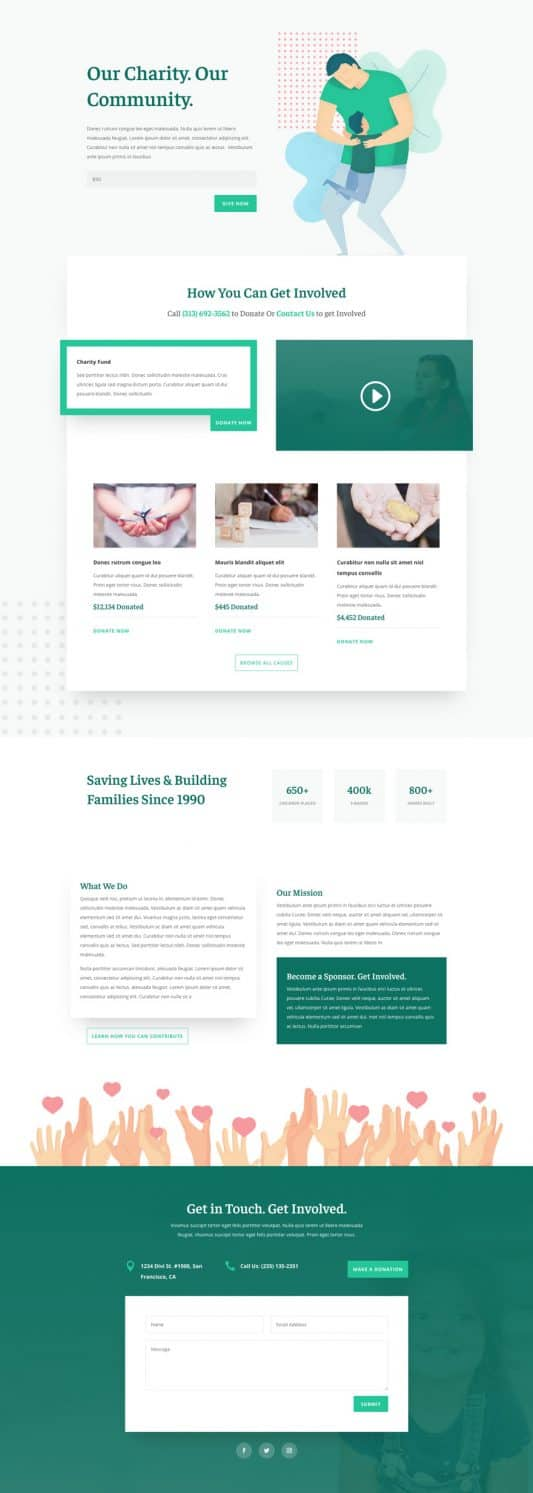 Charity Web Design 3