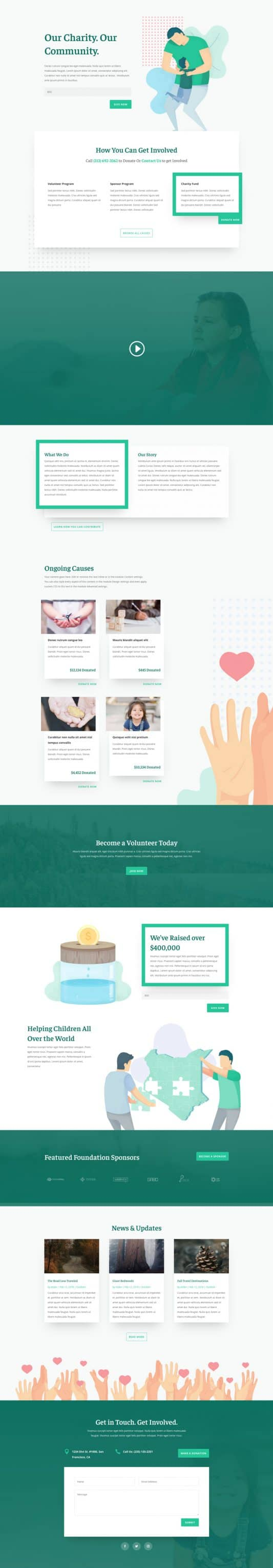 Charity Web Design 4