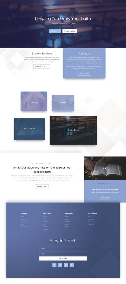 Church Home Page Style 1