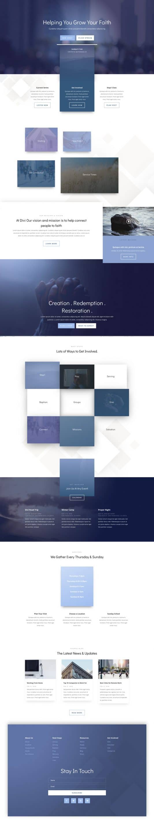 Church Web Design 4