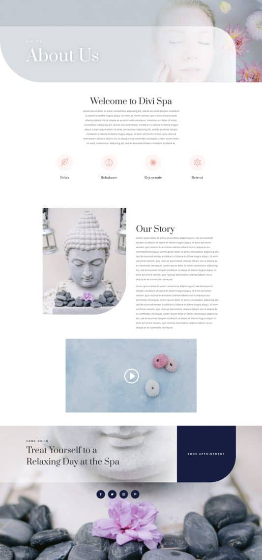 Day Spa Web Design 1