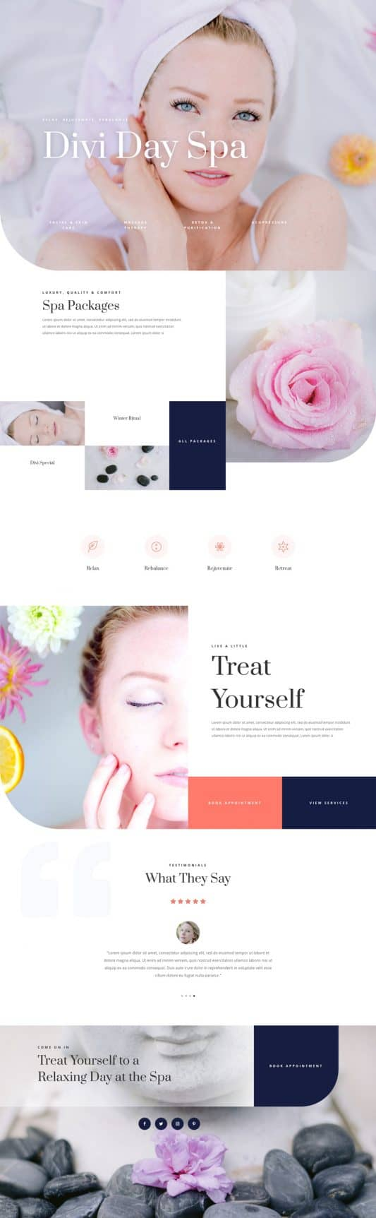 Day Spa Web Design 4