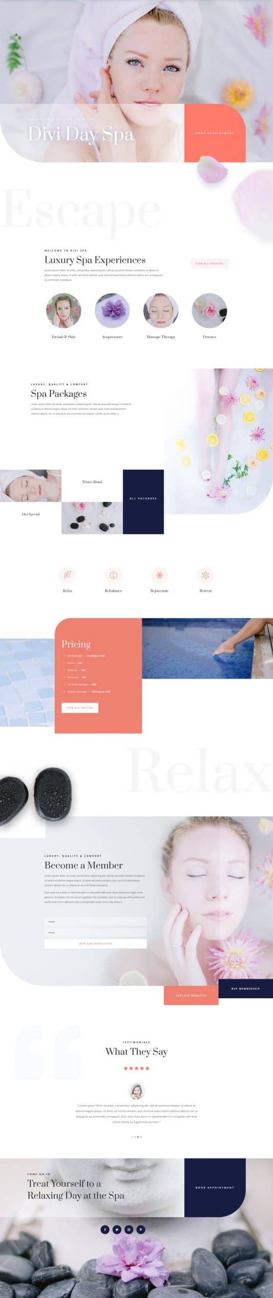 Day Spa Web Design 5