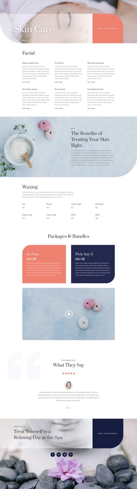 Day Spa Service Page Style 1