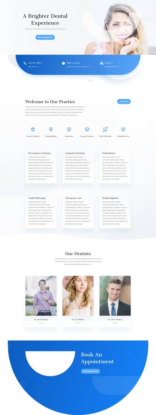 Dentist Home Page Style 1