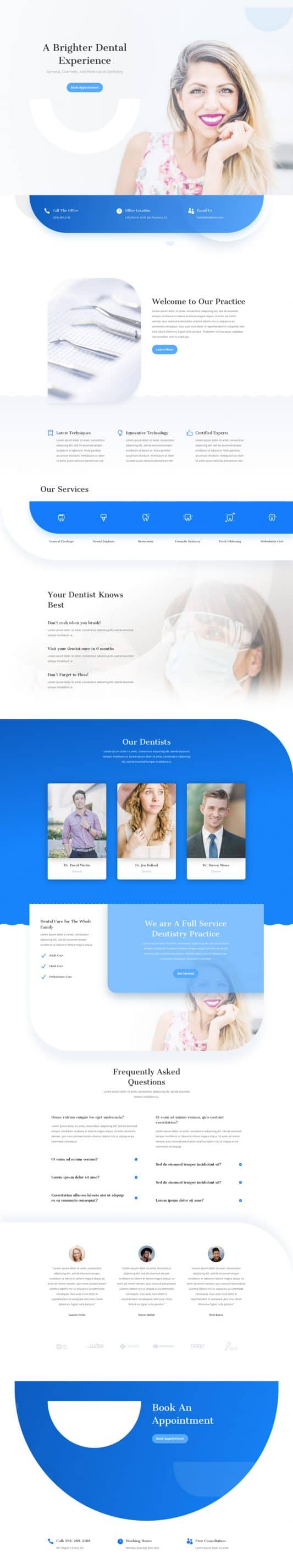 Dentist Landing Page Style 1