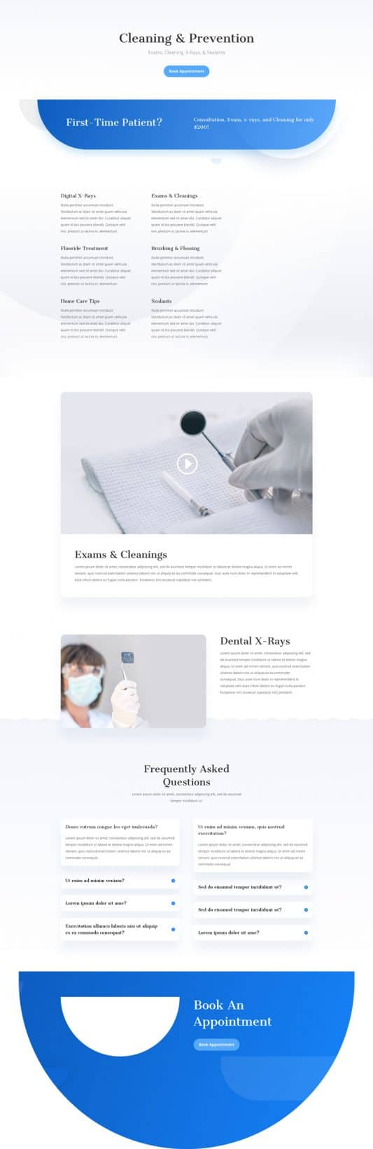Dentist Service Page Style 1