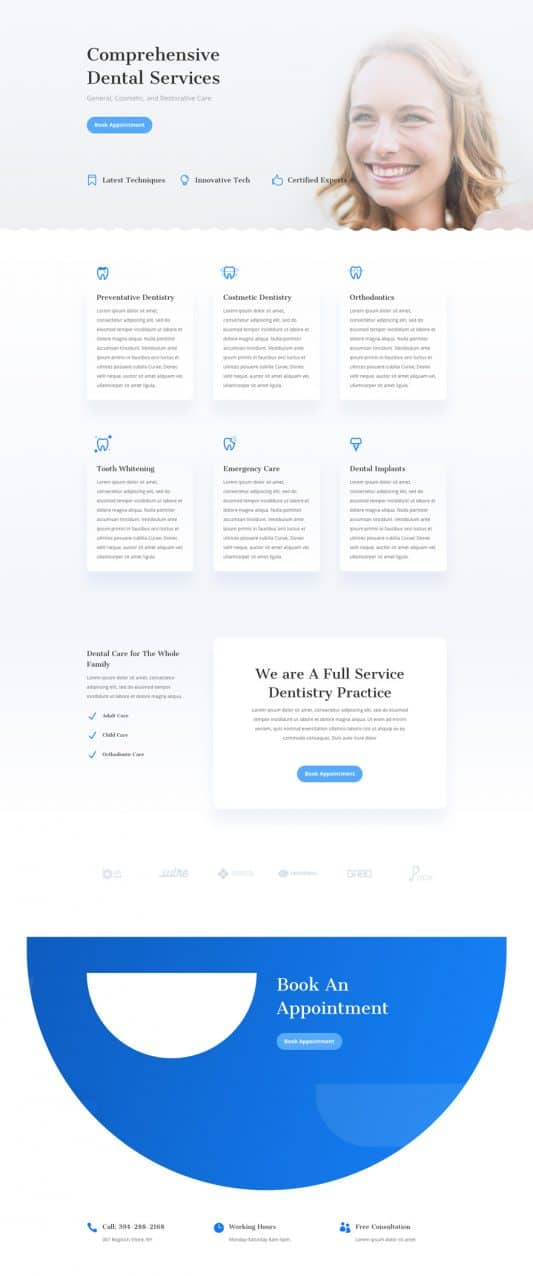 Dentist Services Page Style 1