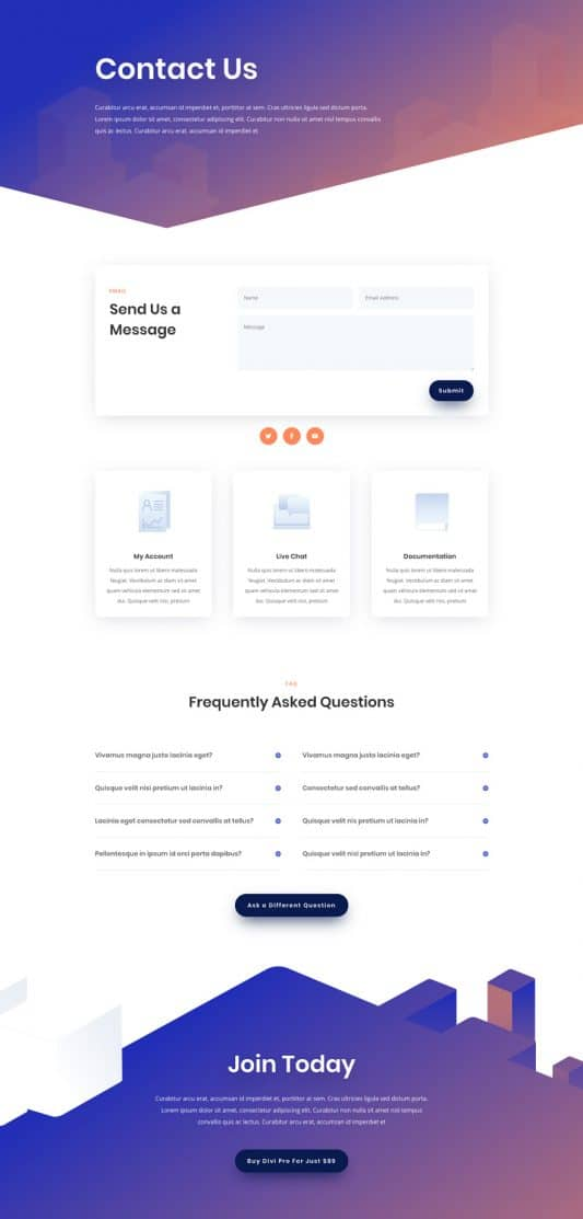 Digital Product Contact Page Style 1