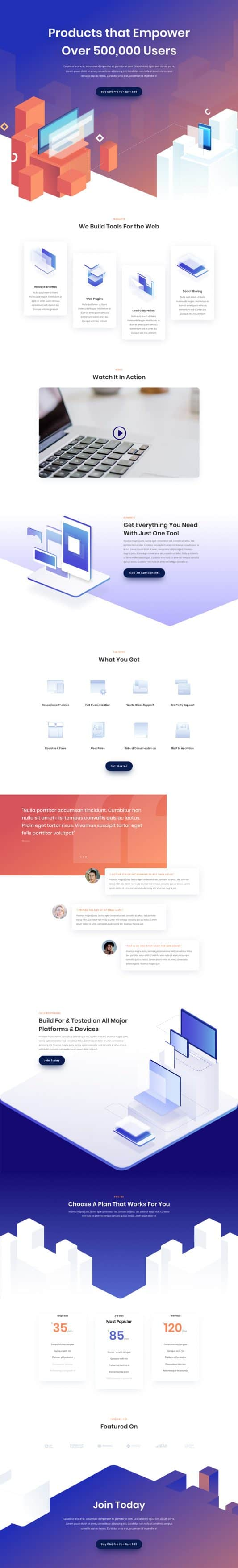 Digital Product Landing Page Style 1