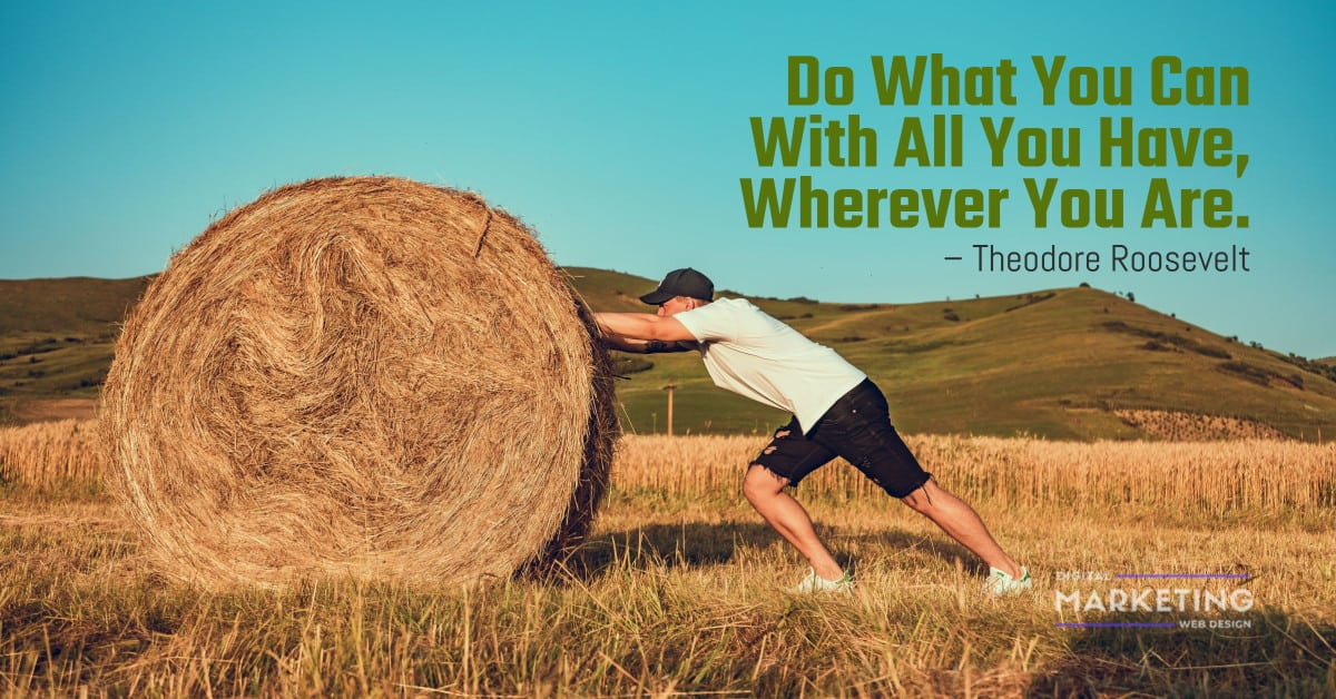 Do What You Can With All You Have, Wherever You Are - Theodore Roosevelt 1