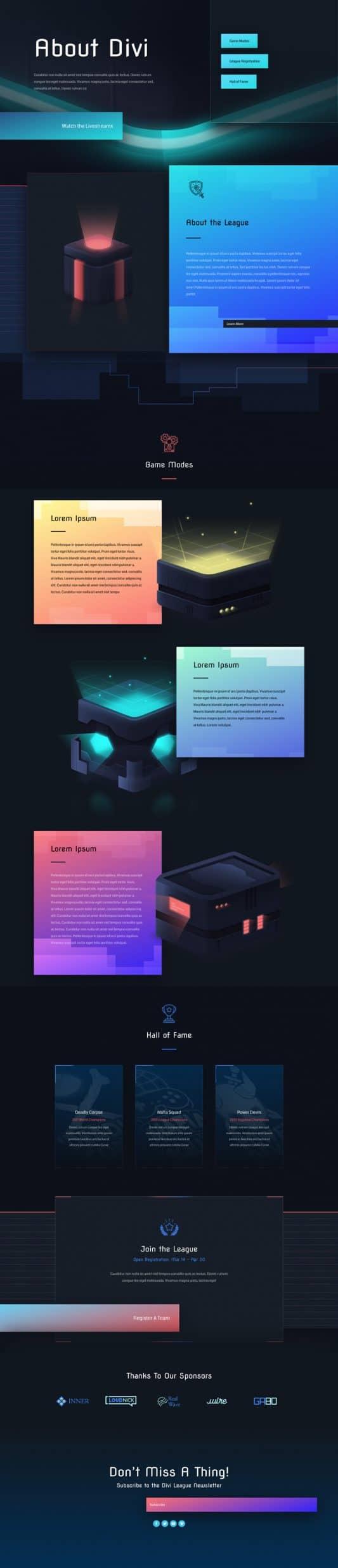 Esports Web Design 1