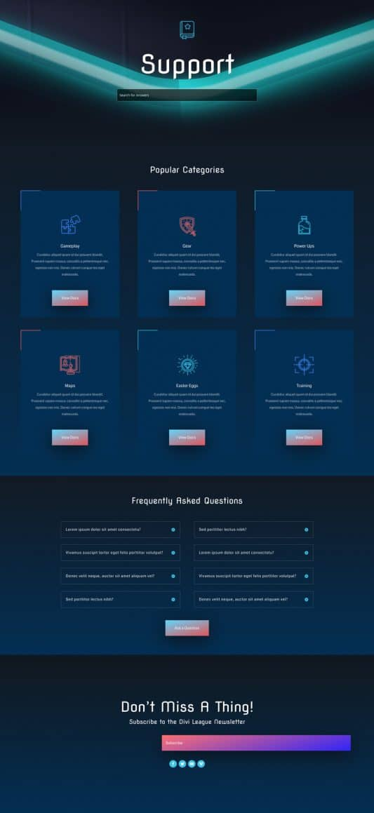 Esports Web Design 3