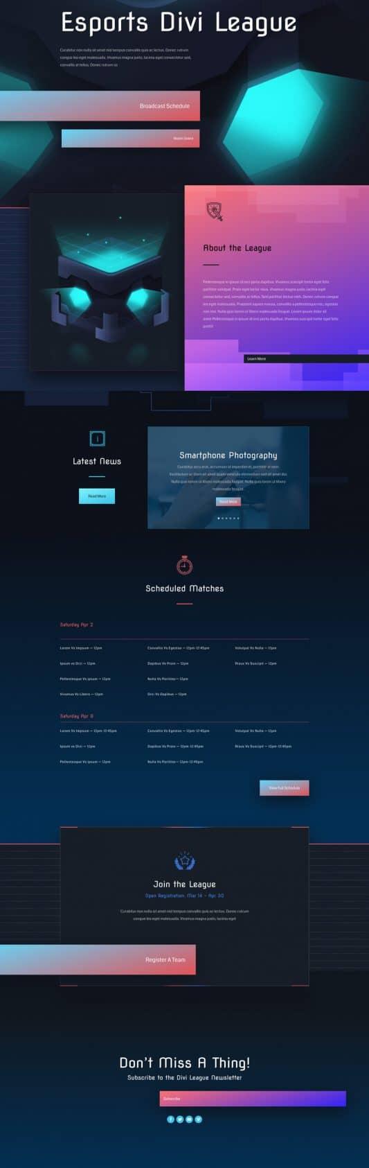 Esports Web Design 4