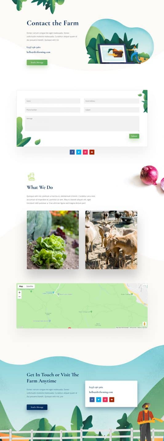 Farmer Contact Page Style 1