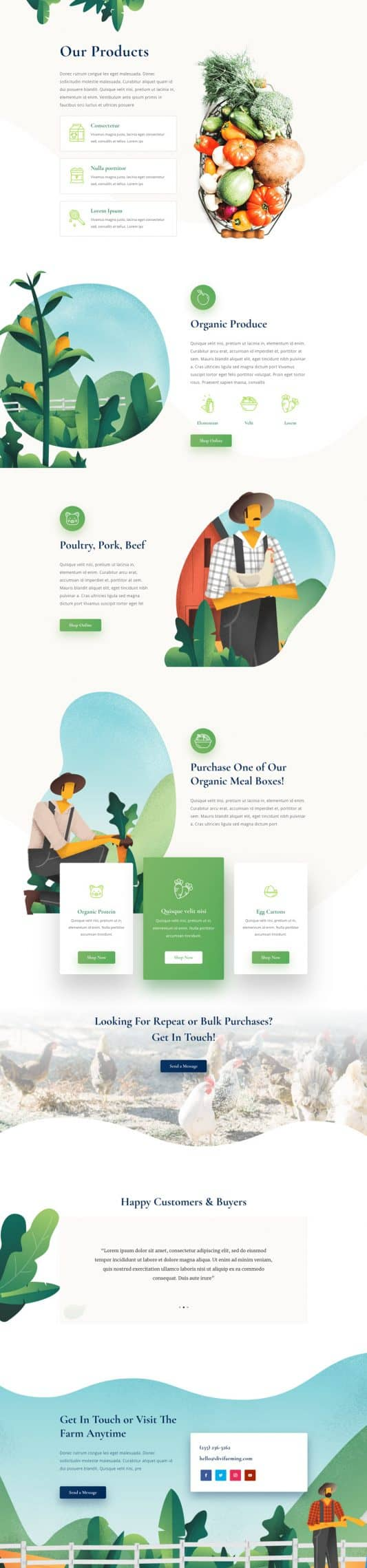 Farmer Products Page Style 1
