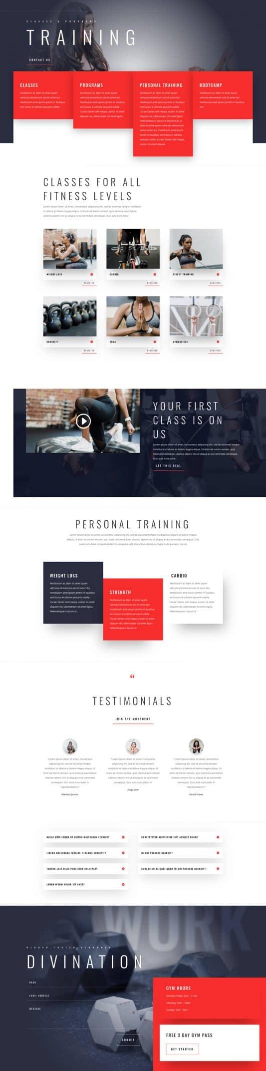 Fitness Gym Web Design 3