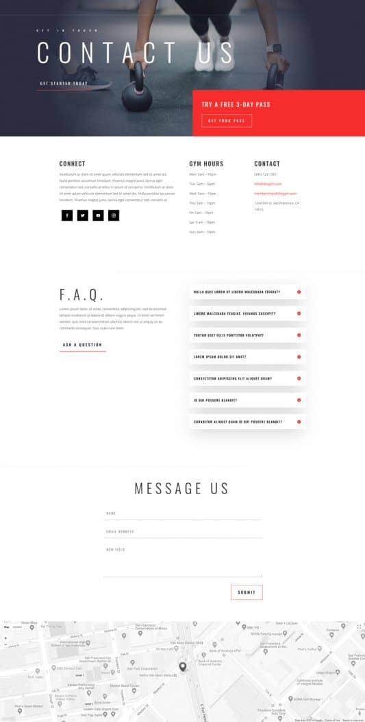Fitness Gym Web Design 4