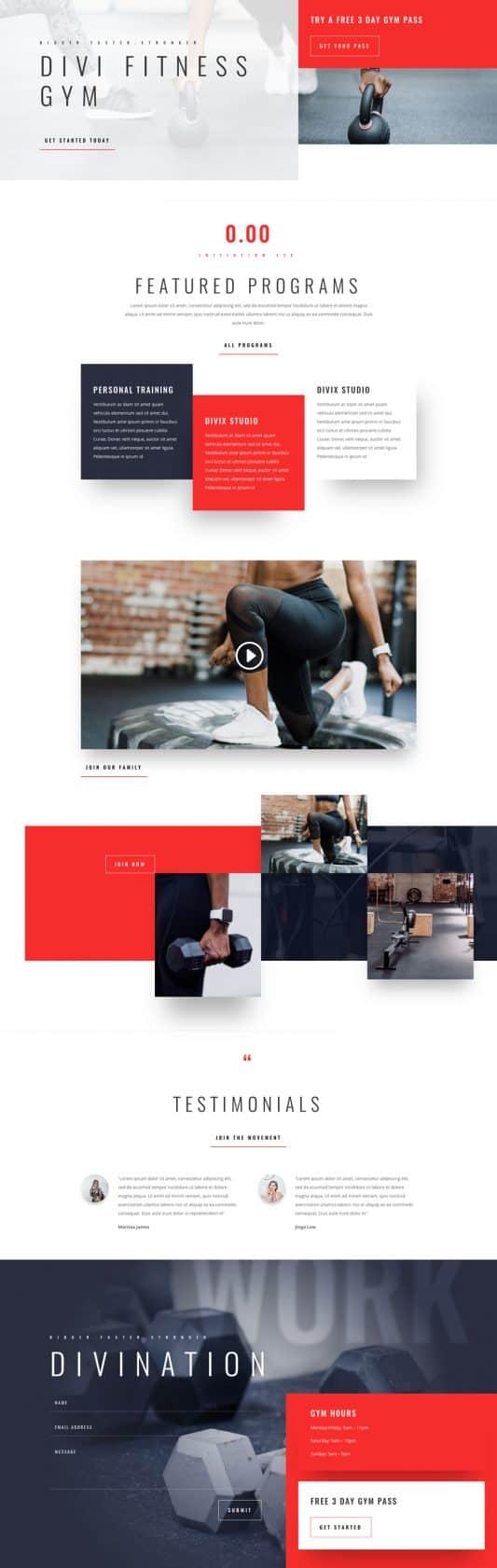 Fitness Gym Web Design 5