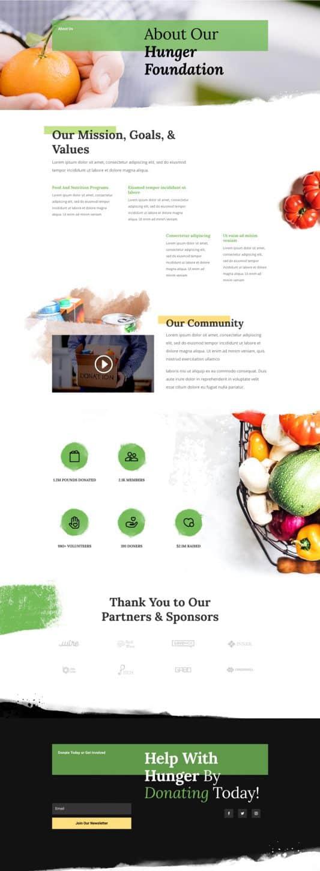 Food Bank Web Design 1