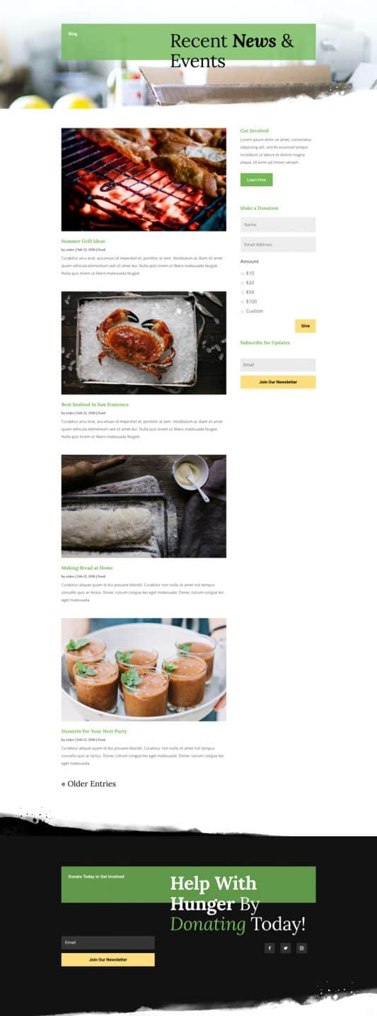 Food Bank Blog Page Style 1