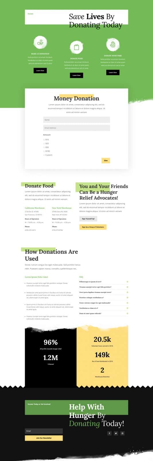 Food Bank Web Design 4