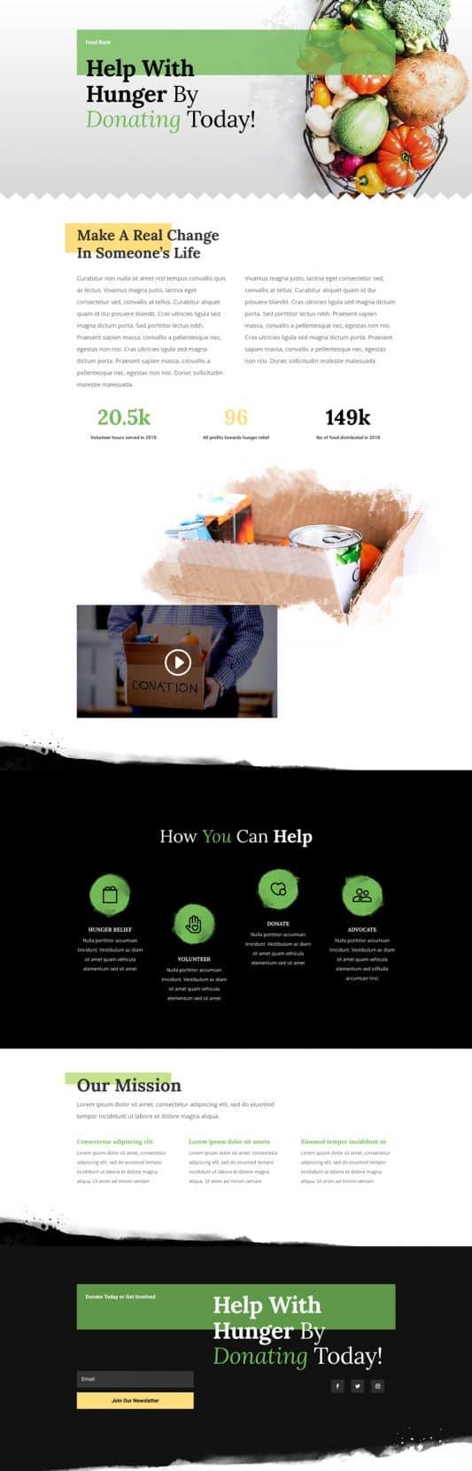 Food Bank Web Design 6