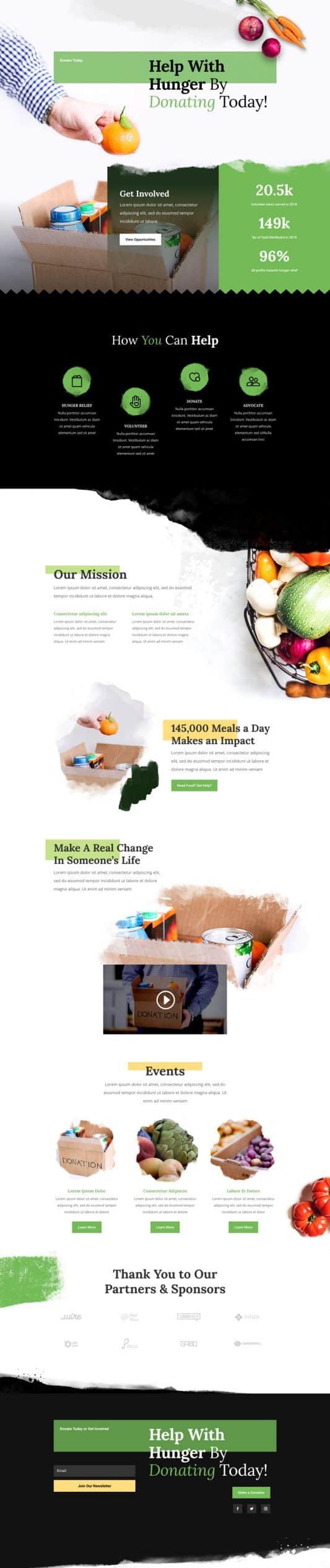 Food Bank Web Design 8