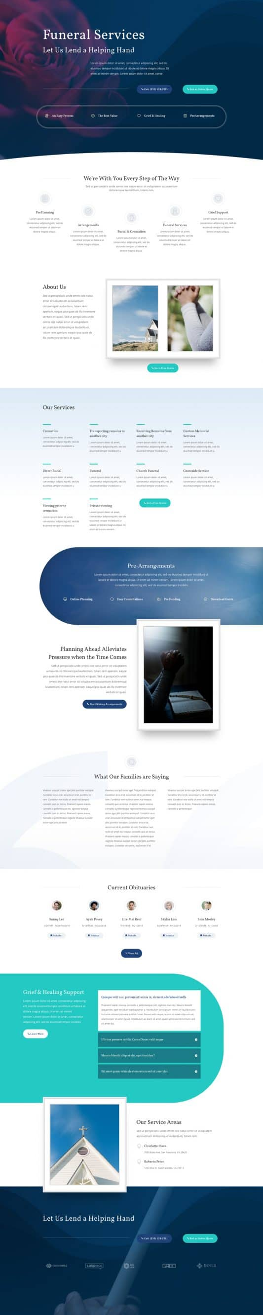 Funeral Home Web Design 4
