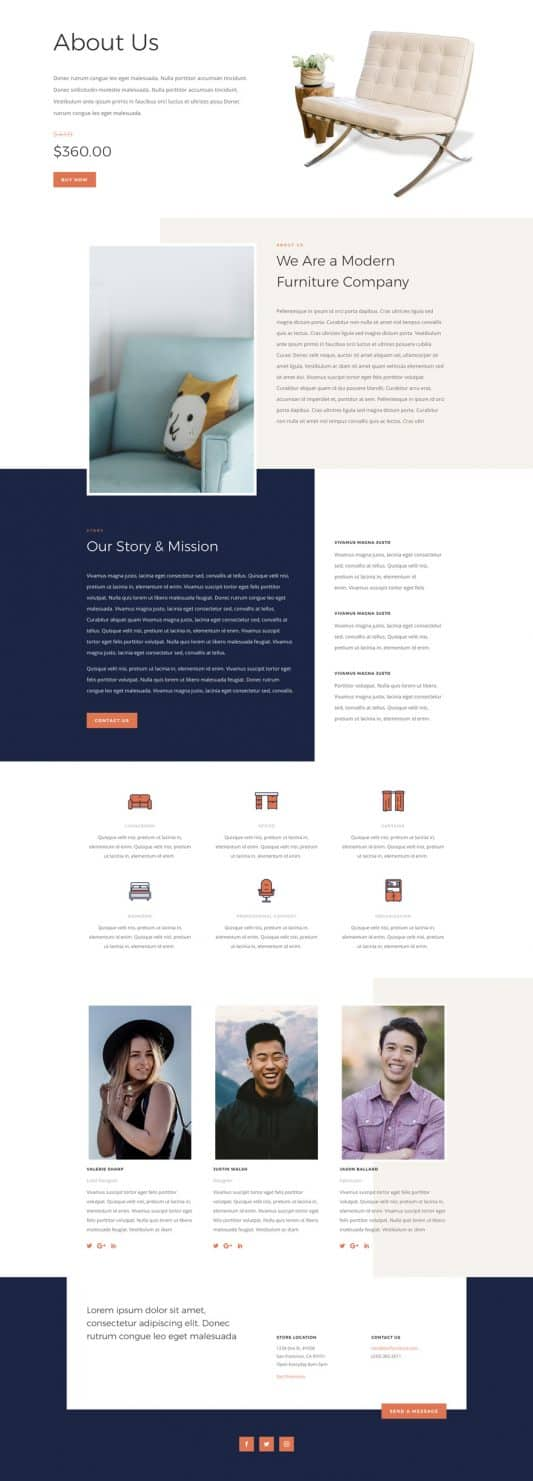 Furniture Store About Page Style 1