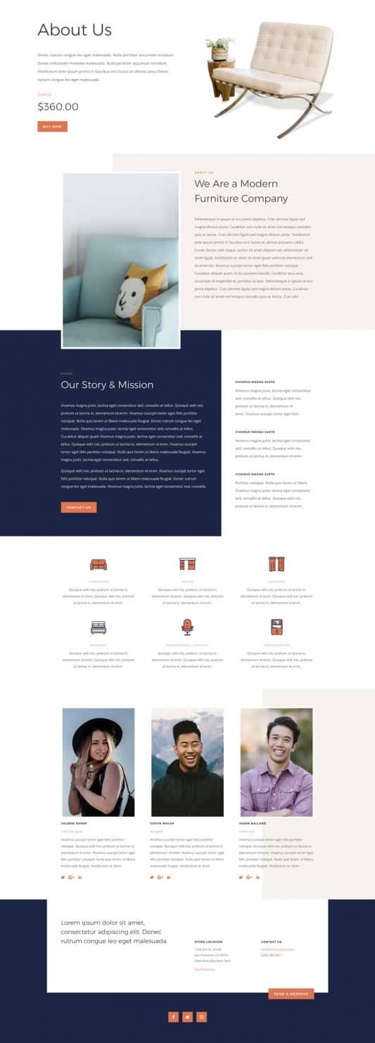 Furniture Store Web Design 1