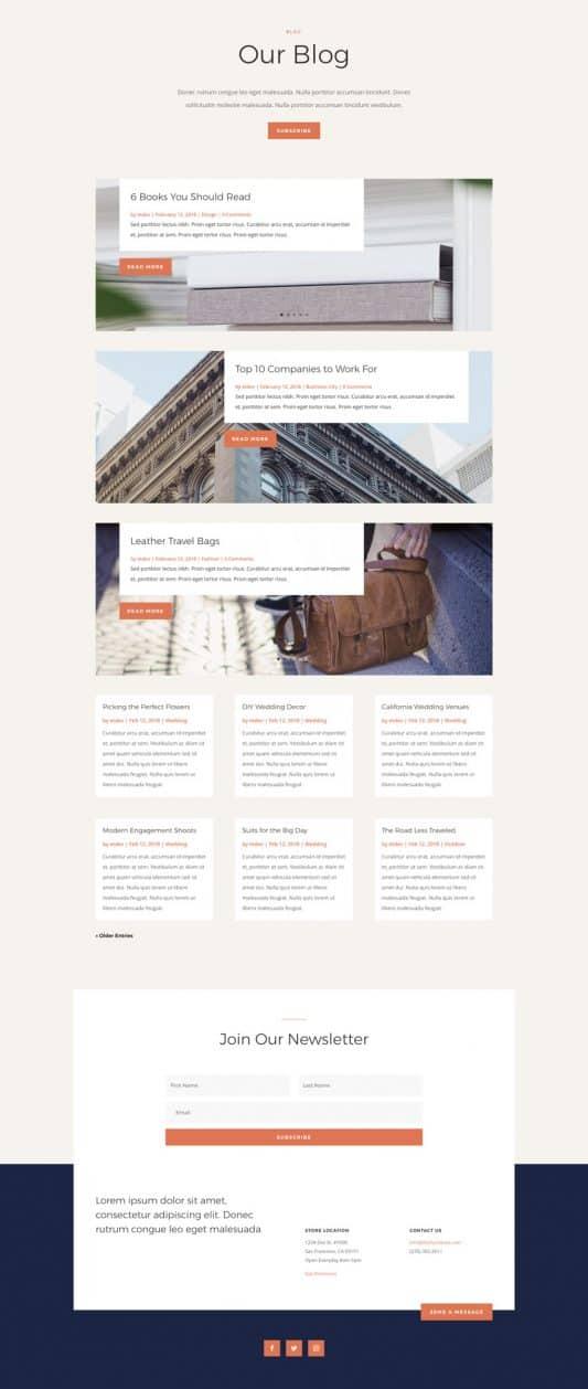 Furniture Store Web Design 2
