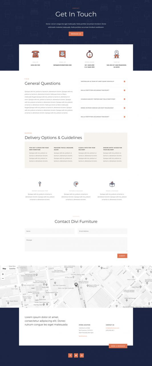 Furniture Store Web Design 3