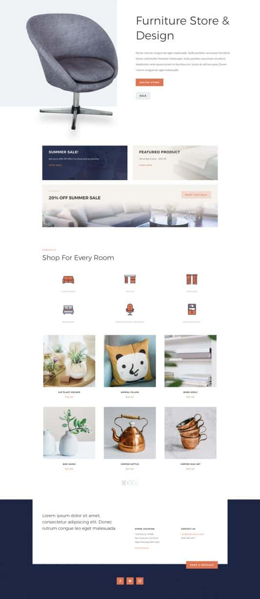 Furniture Store Home Page Style 1
