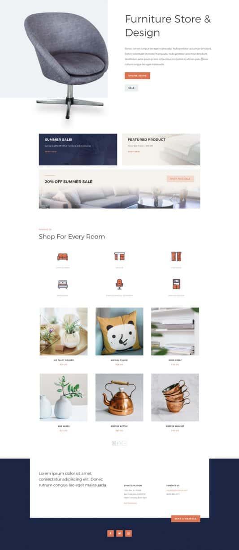 Furniture Store Web Design 4
