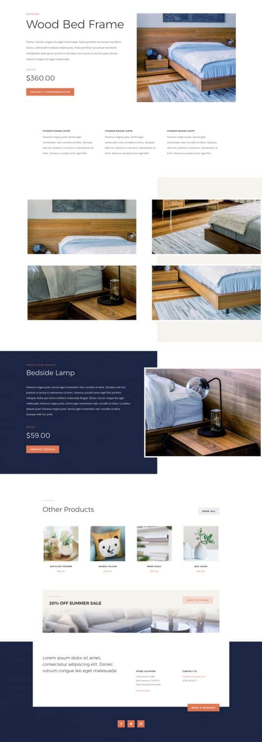 Furniture Store Product Page Style 1